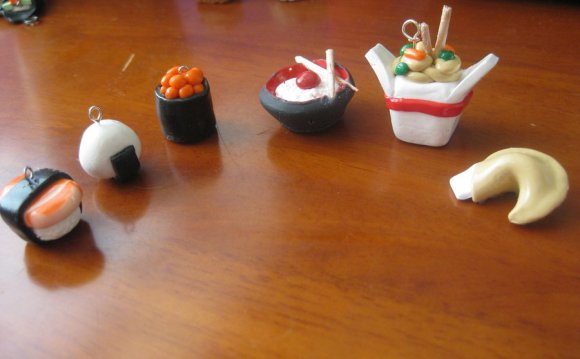 Asian polymer clay food charms