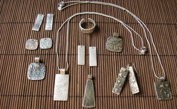 My silver clay jewelry