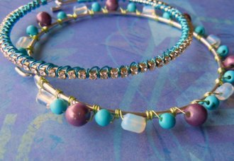 Learn how to wire lash beads onto jewelry.