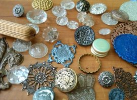 textures and shapes for making metal clay jewelry