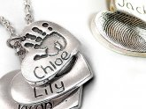 Silver Fingerprint necklaces
